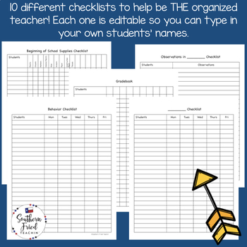 Checklists to Help You Stay Organized - EDITABLE