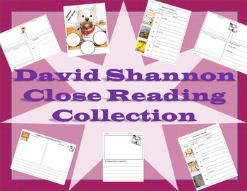 Collection of David Shannon Close Reading Activities (SPANISH)