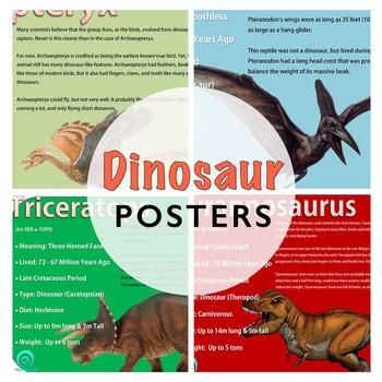 Dinosaur Poster Set