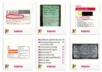 Collection of Discrimination Job advertisements