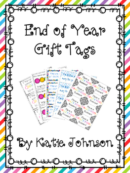 Collection of End of Year Gift Tags