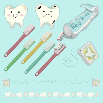 Collection of Dental  Clip Art