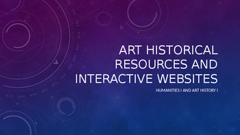 Collection of Free, Interactive Resources for Art History I
