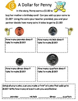 Collection of Read Aloud Activities About Money