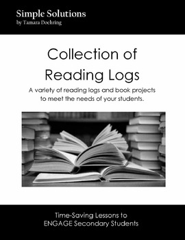 Collection of Reading Logs with Book Project list
