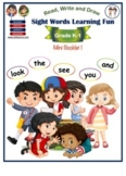 Collection of Sight Words, Mini Booklet 1