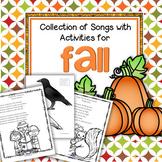 Fall Songs with Activities Preschool Kindergarten