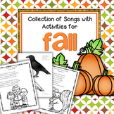 Fall Songs with Activities Preschool Kindergarten