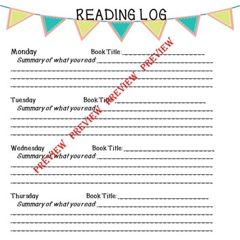 Collection of  Reading Logs