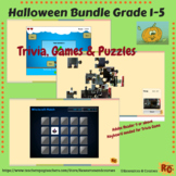 Halloween Interactive Games and Puzzle Bundle Grade 1-5