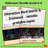 Halloween Interactive Games & Puzzles Bundle Grade 6-8