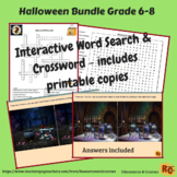 Halloween Interactive Games & Puzzles Bundle 6th-8th Grade