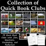 Bundle of Quick Book Clubs for 3rd or 4th Grade