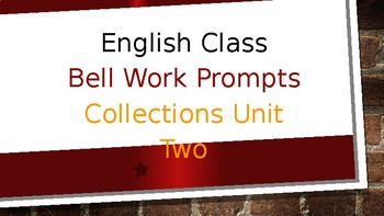 Collections Two Bell Work