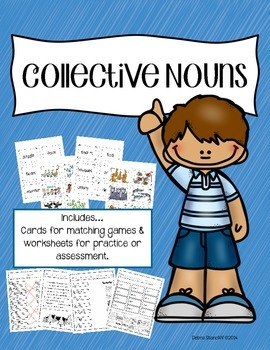 Collective Noun Center Activity and Assessments
