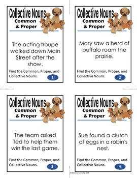 Collective Nouns, Common and Proper Nouns