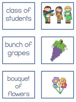 Collective Noun 2nd Grade Grammar Mini Unit
