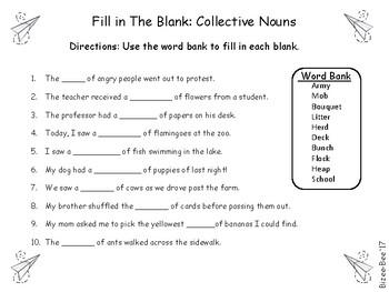 Collective Nouns NO PREP