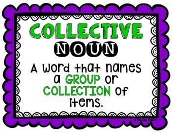 Collective Nouns:  Collective Nouns SCOOT