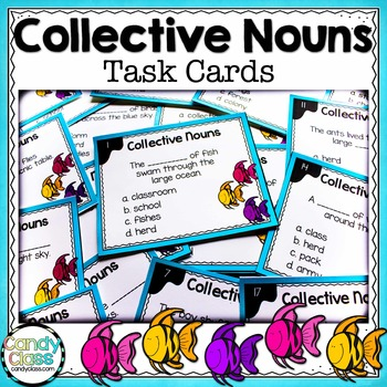 Collective Noun Task Cards - For Center Activities
