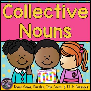 Collective Nouns (Game, Puzzles, Task Cards & More!)