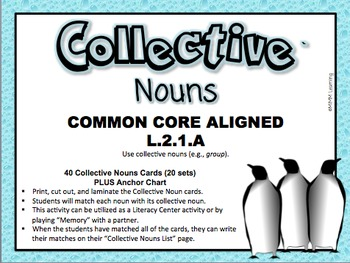 Collective Nouns Activity (Common Core Alined L.2.1.A)