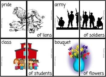 Collective Nouns Activity (Common Core Alined L.2.1.A)