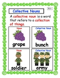 Collective Nouns Anchor Chart and Interactive Notebook