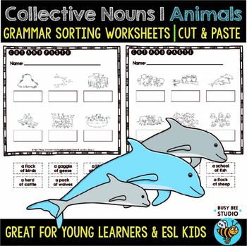 Collective Nouns (Animals) | | Cut and Paste Worksheets