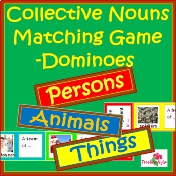 Collective Nouns Dominoes Game Bundle