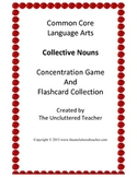Collective Nouns Concentration Game & Flash Card Collection