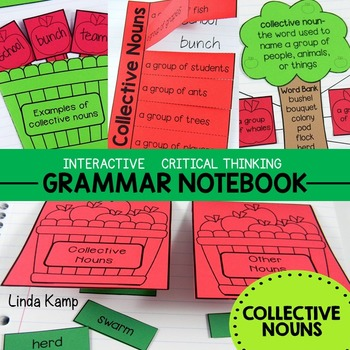 Collective Nouns Critical Thinking Interactive Notebook