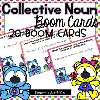 Collective Nouns Digital BOOM Task Cards