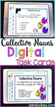 Collective Nouns Digital Grammar 2nd Grade Google Classroom Distance Learning