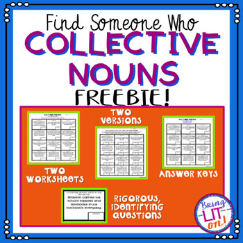 FREEBIE! Collective Nouns - Find Someone Who