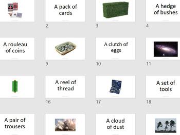 Collective Nouns  Flash Card - 123 cards
