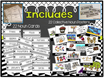 Collective Nouns Focus Wall Display & Poster Set  L.2.1a