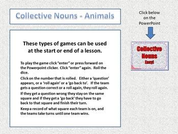 Collective Nouns Game - Basic Animals