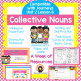 Collective Nouns (Great for 2nd Grade Grammar Journeys Unit 2 Lesson 6)