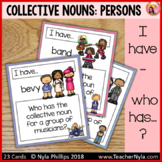 Collective Nouns Groups of People 'I Have Who Has' Game for Matching Activity