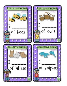 2nd Grade Collective Nouns Head Band Game