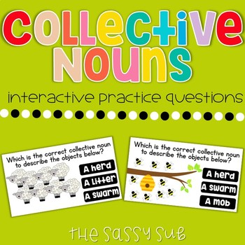 Collective Nouns: Interactice Practice Questions (with recording sheet)