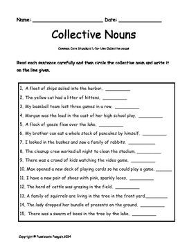 Collective Nouns Language Skills