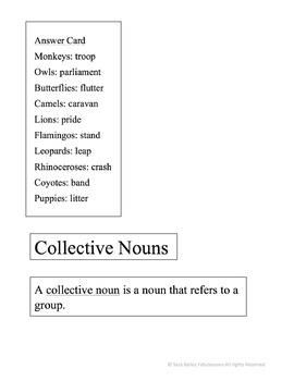 Collective Nouns Matching