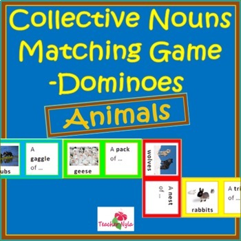Collective Nouns Matching Game - Animals