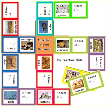 Collective Nouns Matching Game Animals By Nyla S Crafty