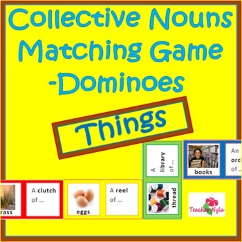 Collective Nouns Dominoes Matching Game - Things