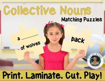 Collective Nouns Matching Puzzles: Print. Laminate. Cut.