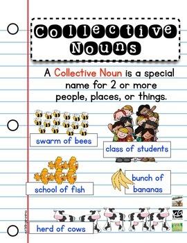Collective Nouns Poster