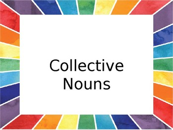 Collective Nouns Posters/Activity Cards